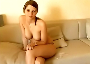 A young mordovka accidentally shows bare tits and a pussy on a webcam