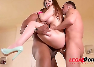 Busty Milf Lucia Love black dick DP&rsquo_ed to the extreme in XXX threesome GP131