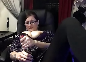 Hot Nerd Studying Stops to Cum in Pantyhose