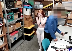 Foreign Ginger Teen Punished By Security Guards Erect Load of shit