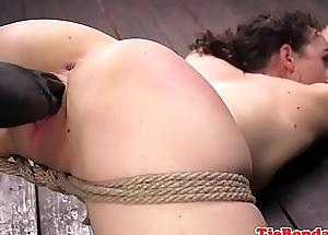 Tiedup BDSM babe gets enjoys obtaining toyed