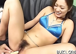 College gal ends wicked japan porn with cum above her boobs
