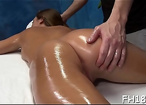 Sexy 18 savoir vivre old girl gets drilled hard by her massage therapist!