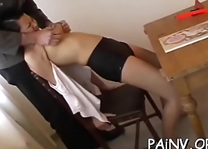 Gal edibles pussy and gets humiliated and spanked by a domina