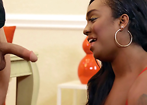 Cheating wife Layton Benton sucks the hard cock of a burglar