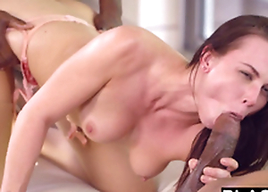 Beautiful student Aidra Fox takes two BBCs