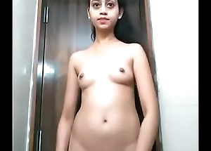 Indian college girl showing boobs and pussy